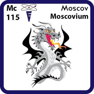 Mc Moscovium- Familiar Moscov Science Game for Kids Character