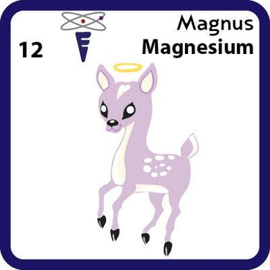 Mg Magnesium- Familiar Magnus Science Game for Kids Character