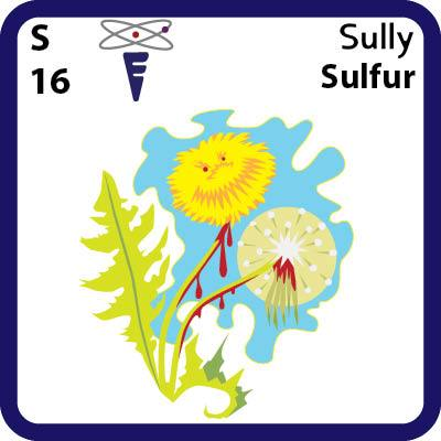 S Sulfur- Familiar Sully Science Game for Kids Character