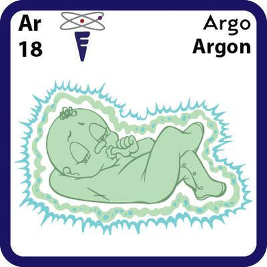 Ar Argon-Familiar Argo Science Game for Kids Character