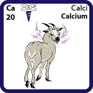 Ca Calcium- Familiar Calci Science Game for Kids Character