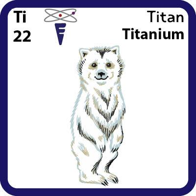 Ti Titanium- Familiar Titan Science Game for Kids Character