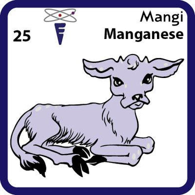 Mn Manganese- Familiar Mangi Science Game for Kids Character