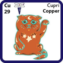 Load image into Gallery viewer, Cu Copper- Familiar Cupri Science Game for Kids Character
