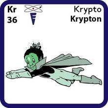 Load image into Gallery viewer, Kr Krypton- Familiar Krypto Science Game for Kids Character