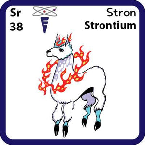 Sr Strontium- Familiar Stron Science Game for Kids Character