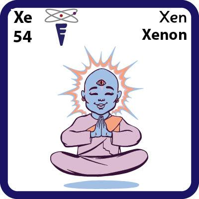 Xe Xenon- Familiar Xen Science Game for Kids Character