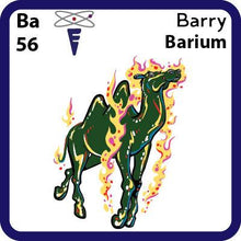Load image into Gallery viewer, Ba Barium- Familiar Barry Science Game for Kids Character