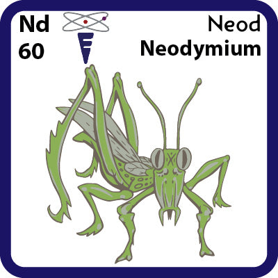60 Nd Neodymium- Familiar Neod