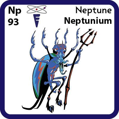 Np Neptunium- Familiar Neptune Science Game for Kids Character