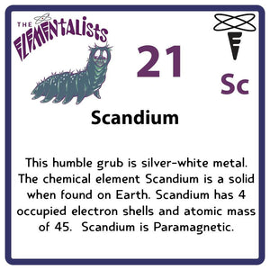 Sc Scandium- Familiar Scani Science Game for Kids Character