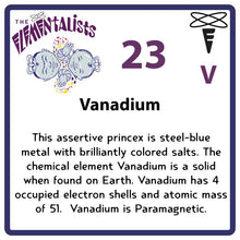 Load image into Gallery viewer, V Vanadium- Familiar Vandy Science Game for Kids Character