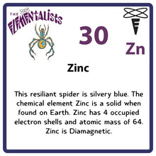Load image into Gallery viewer, Zn Zinc- Familiar Zina Science Game for Kids Character