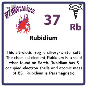 Rb Rubidium- Familiar Ruby Science Game for Kids Character