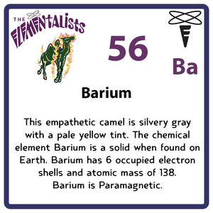 Ba Barium- Familiar Barry Science Game for Kids Character