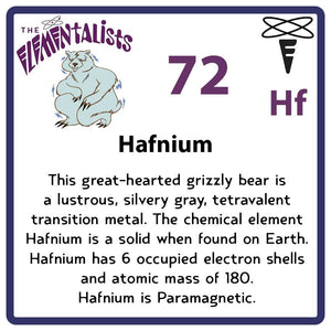 Hf Hafnium- Familiar Hafnhaf Science Game for Kids Character