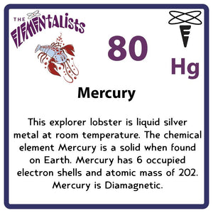 Hg Mercury- Familiar Hyfrag Science Game for Kids Character