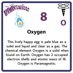 O Oxygen- Familiar Ox Science Game for Kids Character
