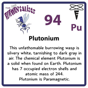 Pu Plutonium- Familiar Pluto Science Game for Kids Character