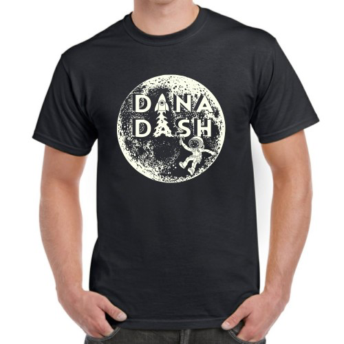 Dana Dash Tee, Glow-in-the-Dark Print on Space Black, Unisex