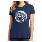 Dana Dash Tee, Glow-in-the-Dark on Navy, Fashion Fit