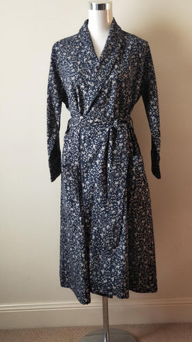 Ladies flannelette dressing gown winter | ladies light winter dressing gown