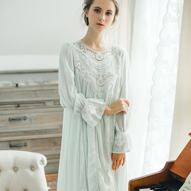 Victorian Style Ladies Cotton Nightgown YH2019 - Matilda Jane Lingerie & Sleepwear