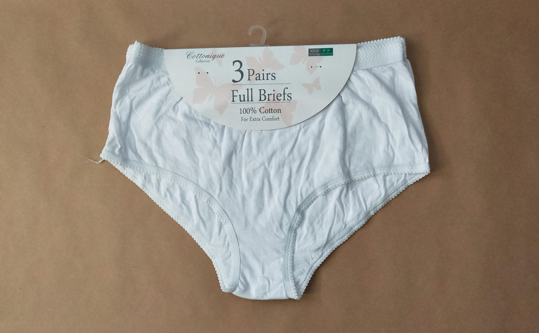 Ladies plus size pure cotton briefs Australia | Ladies Size 18 20 22 24 26 28 30 pure cotton briefs Australia | women's plus size cotton knickers panties Australia | women's large size pure cotton briefs Australia