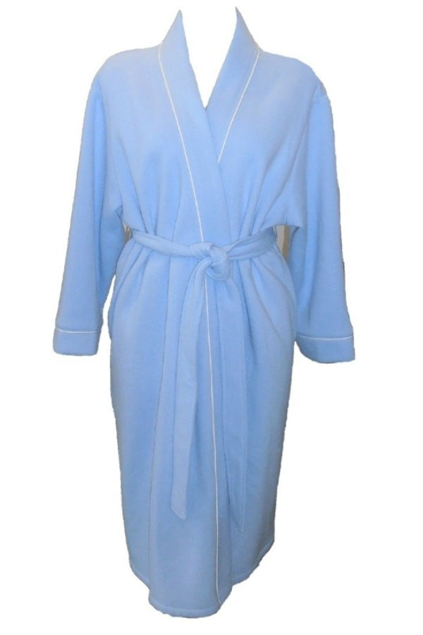 Dilly Lane Cotton Blend Fleece Wrap Dressing Gown - Short Length - Matilda Jane Lingerie & Sleepwear
