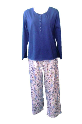 Dilly Lane Knit Top Brushed Satin Pant Pyjama Set - Matilda Jane Lingerie & Sleepwear