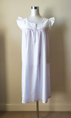 Womens' cotton sleepwear Australia |French Country Cotton Nightie Australia | Pure Cotton Nightwear Australia | Pure Cotton Nighties Australia | Plus size pure cotton nightie Australia | Ladies large cotton nighties Australia