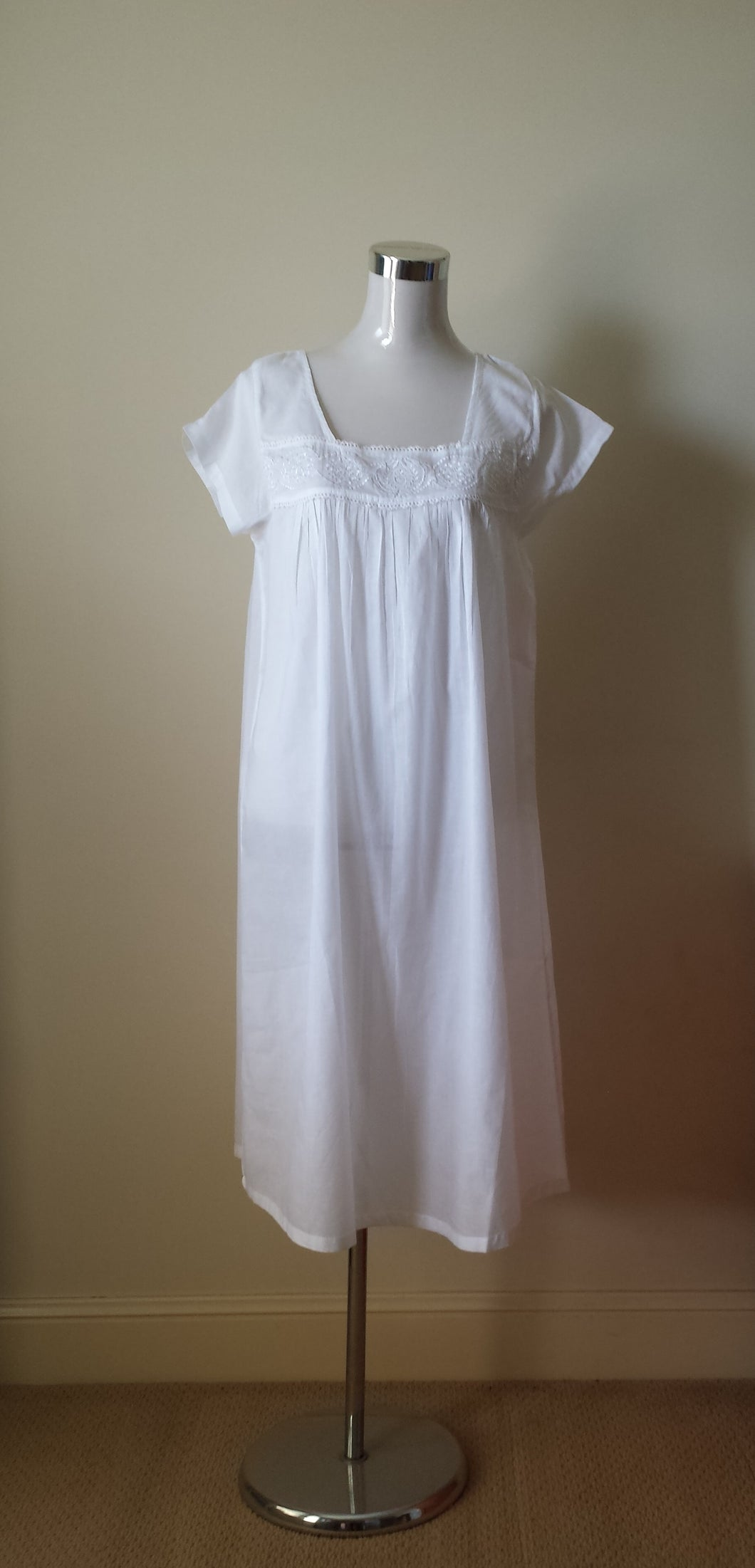 French Country Cotton Voile Nightie Sydney Australia | Pure cotton nighties Sydney Australia | Cotton voile nighties Sydney Australia