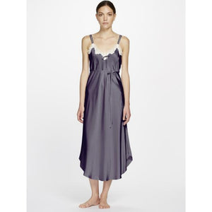 Ginia Long Silk Nightie with Pintucks 7003 - Matilda Jane Lingerie & Sleepwear
