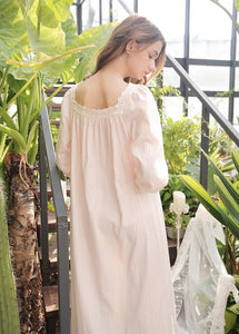 Victorian Style Cotton Nightgown online Australia | Vintage inspired long cotton nightgown online Australia