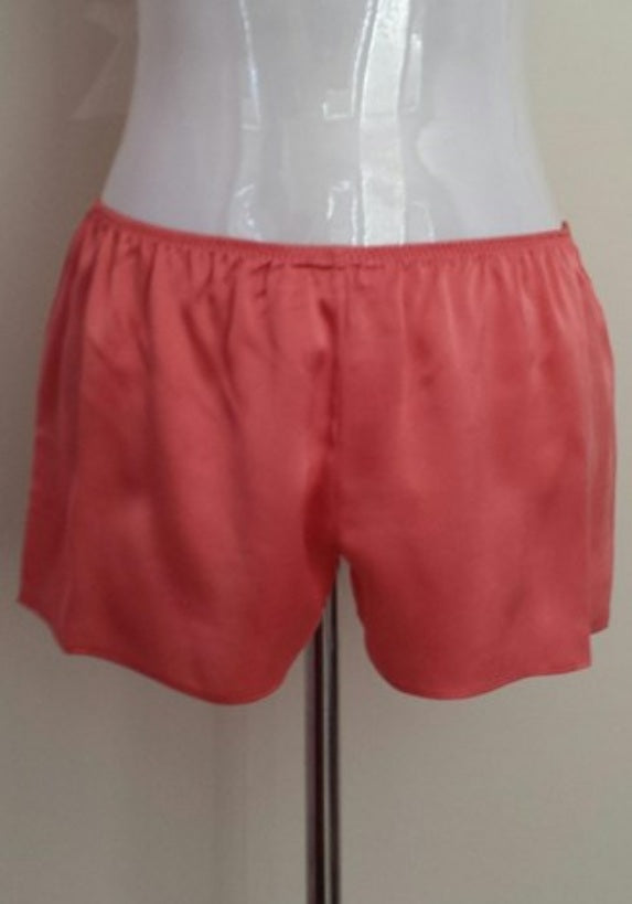 Love & Lustre Silk Boxer Short in Coral LL565 - Matilda Jane Lingerie & Sleepwear