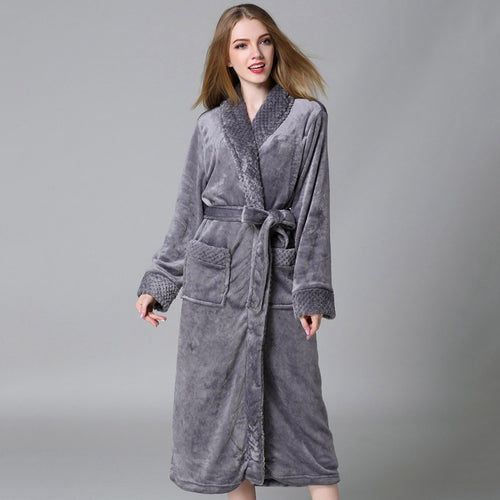 Winter Fleece Women's Plus Size Dressing Gown Wrap Style Australia | Dressing gowns for larger women online Australia | Plus size women's sleepwear online Australia