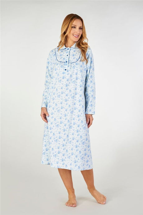 Pure cotton flannelette nightgowns for women online Australia | cotton flannel nighties online Australia | plus size women's cotton flannelette flannel nighties Australia