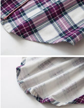 Load image into Gallery viewer, Mia Lucce Cotton Flannelette Nightshirt - Purple Plaid - Matilda Jane Lingerie & Sleepwear