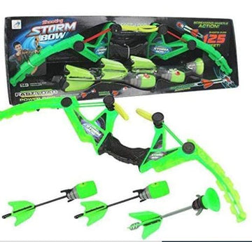 ALLCELE Toy Bow and Foam Arrow Set with 3 Arrow