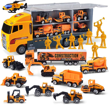 11 in 1 Die-cast Construction Truck Vehicle Car Toy Set