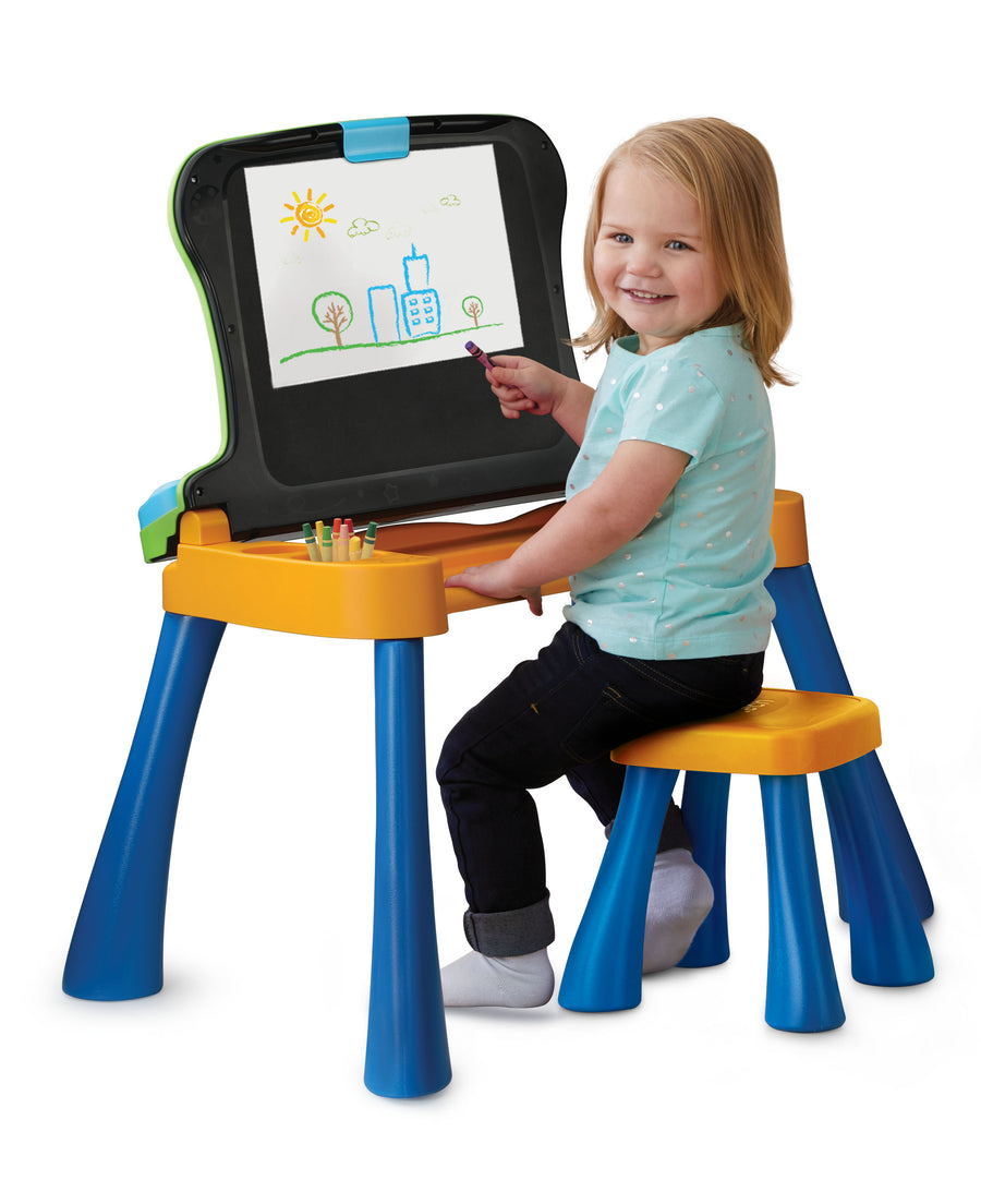 VTech Explore and Write Activity Desk Transforms into Easel and Chalkboard