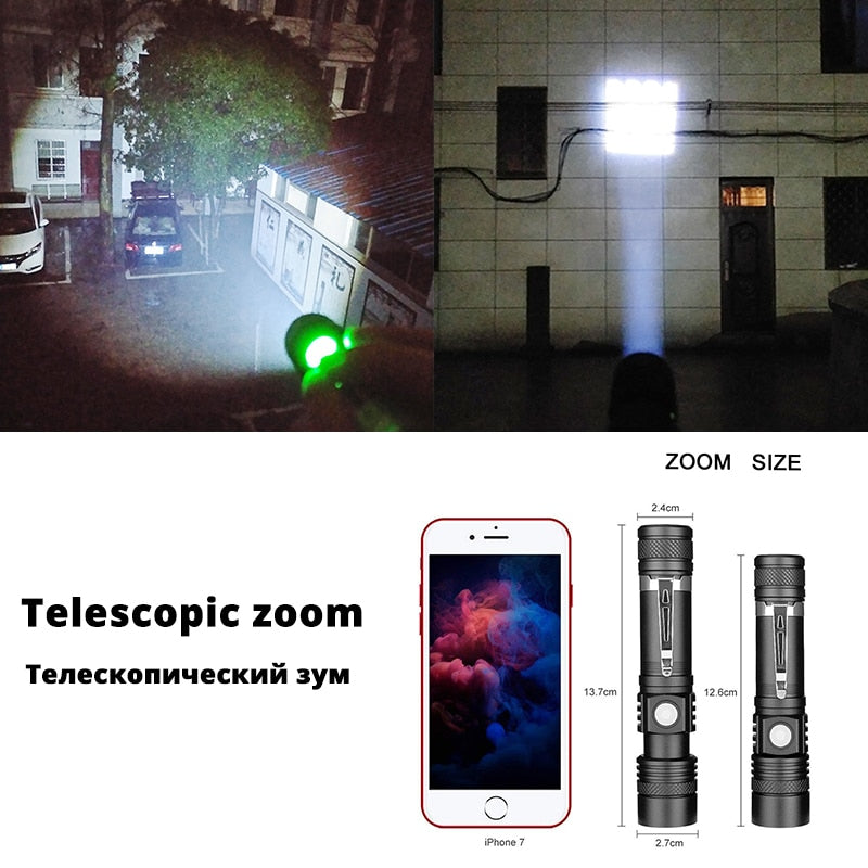 Ultra Bright LED Flashlight With XP-L V6 LED lamp