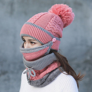 Beanie Hat with Scarf