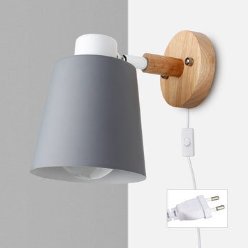 Nordic Wall Lamp With Plug Iron Wall Lamp