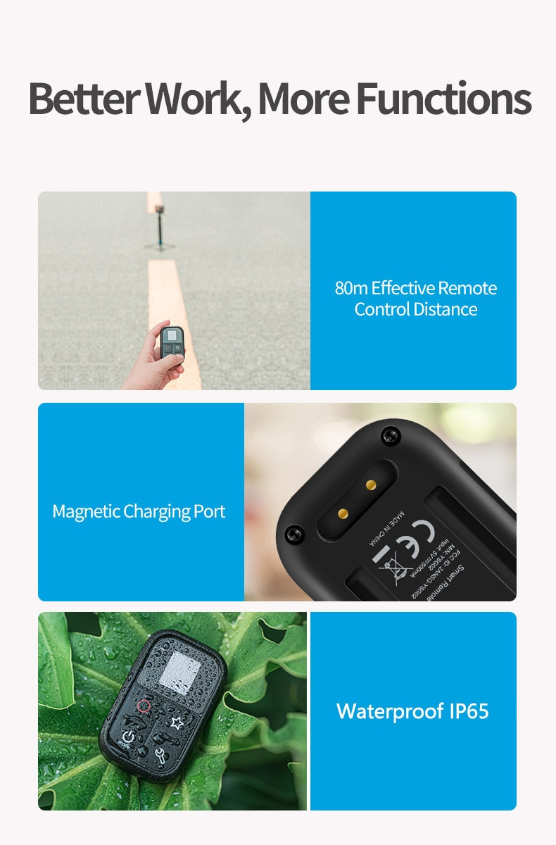 TELESIN Waterproof Smart WIFI Remote Control Camera Controller