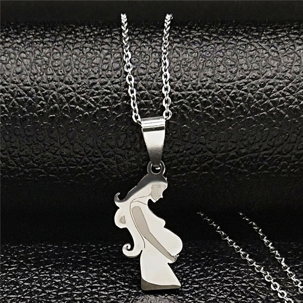 Mom Daughter Stainless Steel Chain Necklace