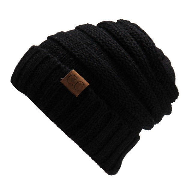 Ponytail Beanie Messy Bun Women's Bennie Solid Ribbed Hat Cap