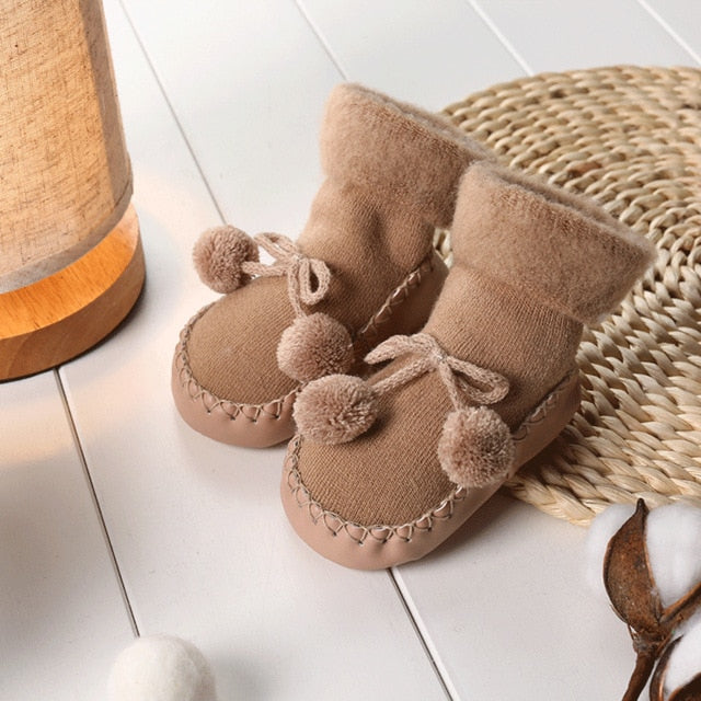 Winter Thick Baby Socks - Anti-Slip Baby Shoes