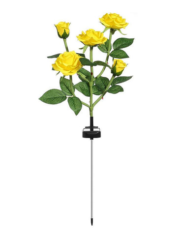 LED Solar Simulation Rose Flower Light -  Outdoor Lawn Lamp