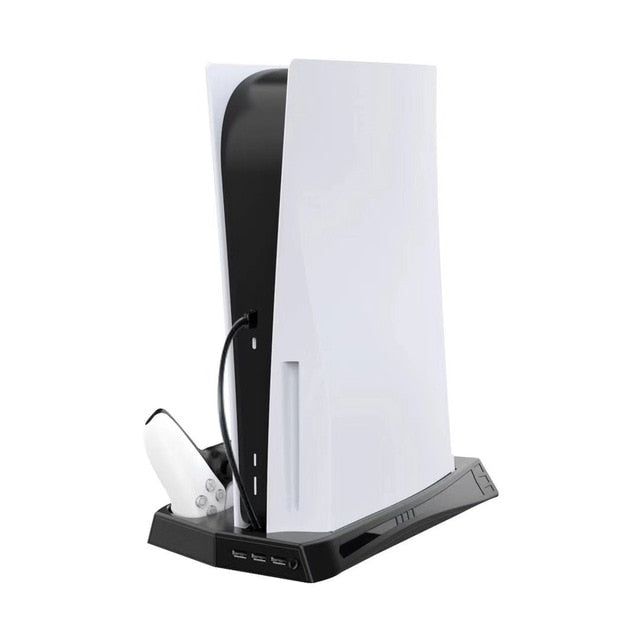 Sony Playstation 5 Vertical Cooling Fan Stand with game slot and hub